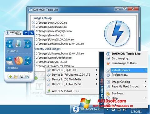 Screenshot DAEMON Tools Lite for Windows 10