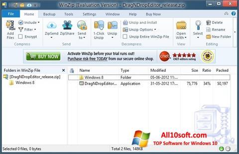 Screenshot WinZip for Windows 10