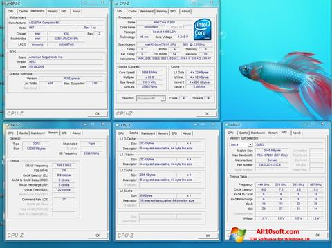 Screenshot CPU-Z for Windows 10