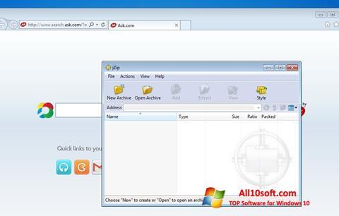 Screenshot jZip for Windows 10