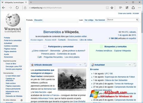 Screenshot Microsoft Edge for Windows 10