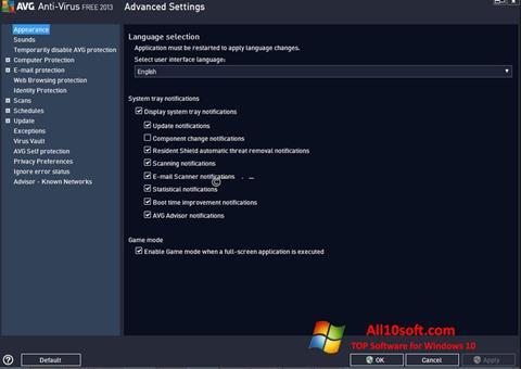 Screenshot AVG for Windows 10
