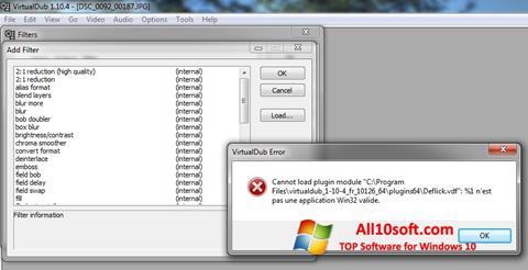 Screenshot VirtualDub for Windows 10