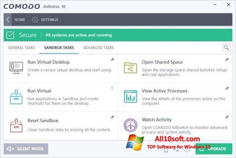 Screenshot Comodo Antivirus for Windows 10