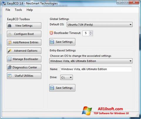 Screenshot EasyBCD for Windows 10