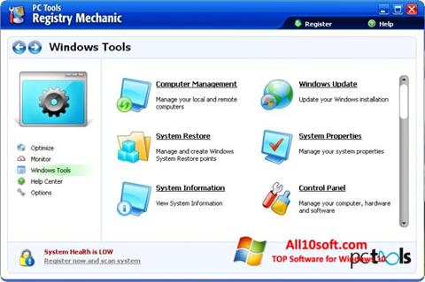 Screenshot Registry Mechanic for Windows 10