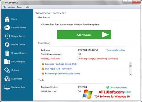 Screenshot Driver Genius Professional for Windows 10