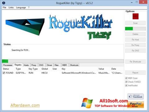 Screenshot RogueKiller for Windows 10