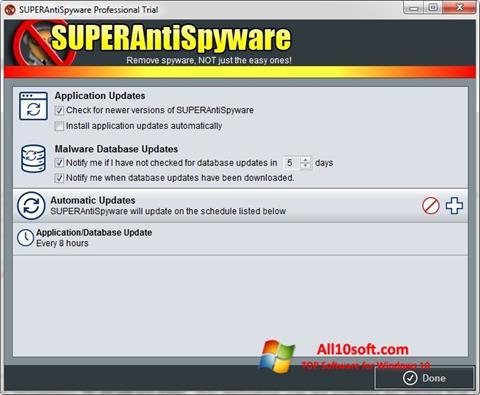 Screenshot SUPERAntiSpyware for Windows 10