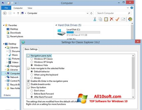 Download Classic Shell for Windows 10 (32/64 bit) in English