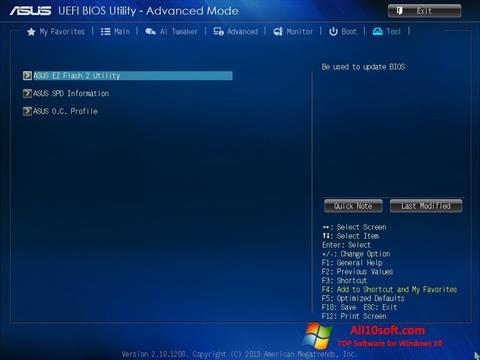 Screenshot ASUS Update for Windows 10