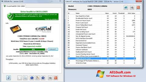 Screenshot SSDLife for Windows 10