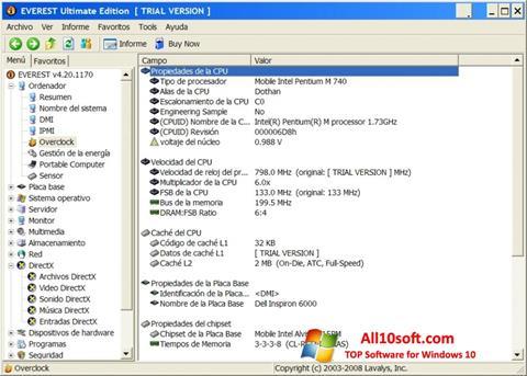 Screenshot EVEREST Ultimate Edition for Windows 10