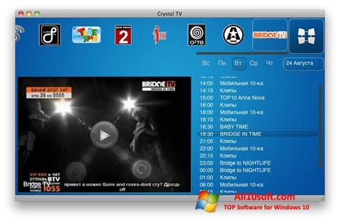 Screenshot Crystal TV for Windows 10