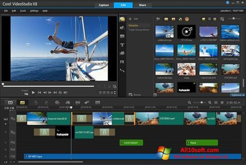 Screenshot Corel VideoStudio for Windows 10