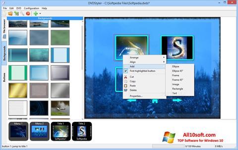 Screenshot DVDStyler for Windows 10
