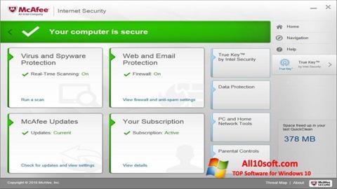 Screenshot McAfee for Windows 10