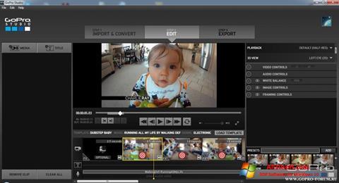 Screenshot GoPro Studio for Windows 10