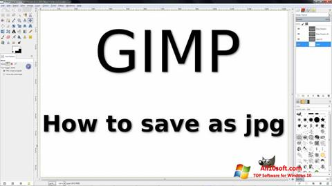 Screenshot GIMP for Windows 10