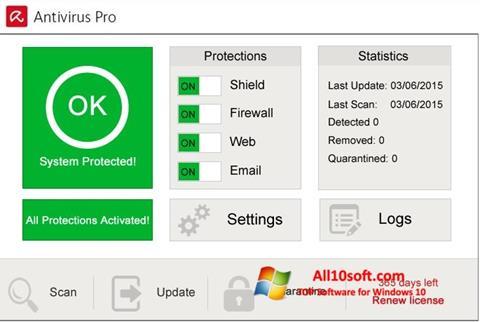 Screenshot Avira Antivirus Pro for Windows 10