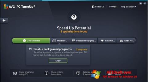 Screenshot AVG PC Tuneup for Windows 10