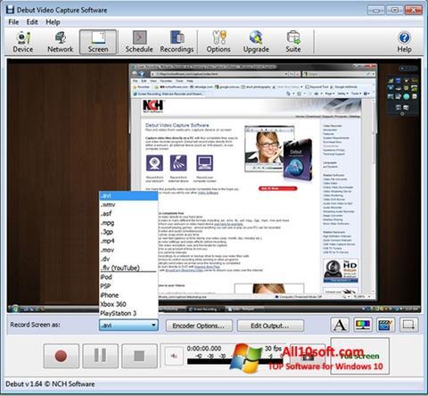 Screenshot Debut Video Capture for Windows 10