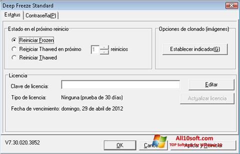 Screenshot Deep Freeze for Windows 10