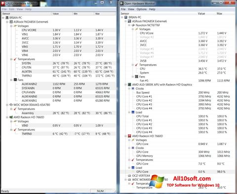 Screenshot Open Hardware Monitor for Windows 10