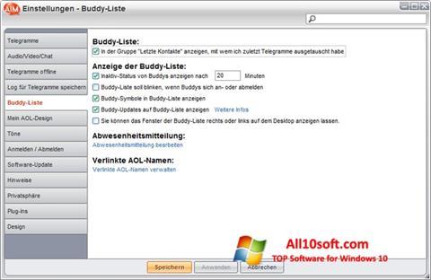 Screenshot AOL Instant Messenger for Windows 10