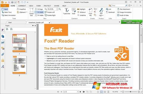 Screenshot Foxit Reader for Windows 10
