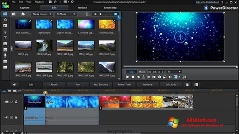 Screenshot CyberLink PowerDirector for Windows 10