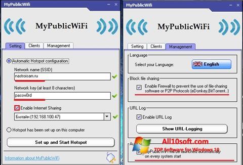 Screenshot MyPublicWiFi for Windows 10