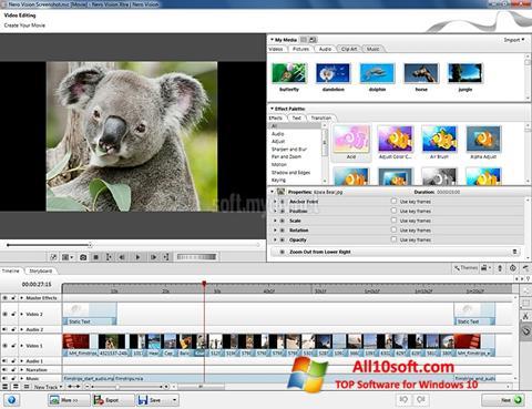 Screenshot Nero Vision for Windows 10