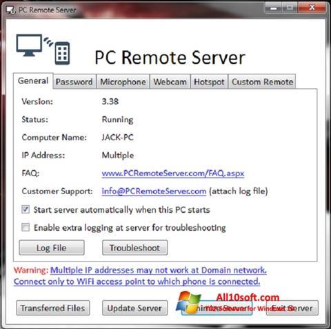Screenshot PC Remote Server for Windows 10