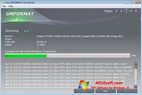 Screenshot UNFORMAT for Windows 10