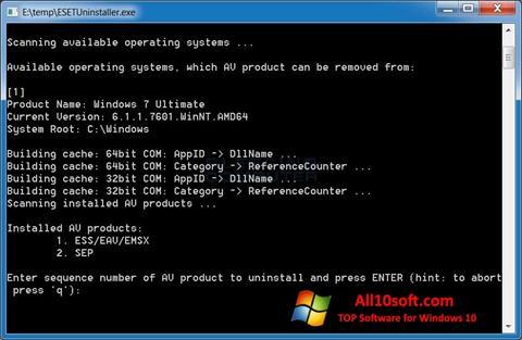 Screenshot ESET Uninstaller for Windows 10