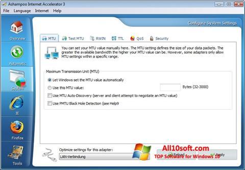 Screenshot Ashampoo Internet Accelerator for Windows 10