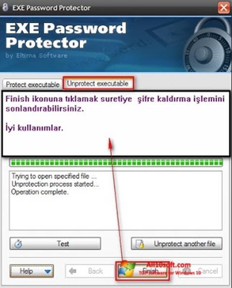 Screenshot EXE Password for Windows 10