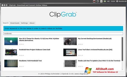 Screenshot ClipGrab for Windows 10