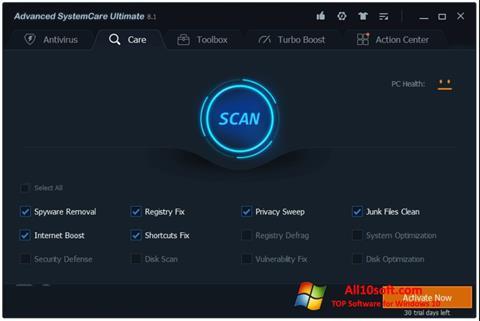 Screenshot Advanced SystemCare for Windows 10