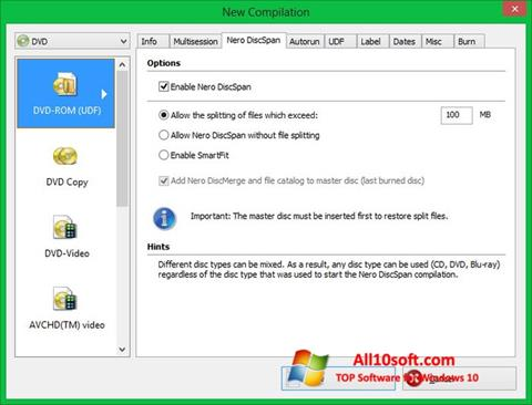 Screenshot Nero Image Drive for Windows 10