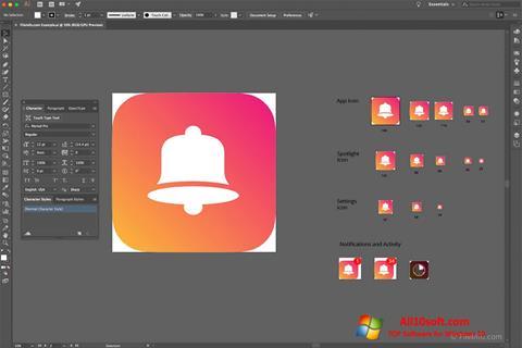 Screenshot Adobe Illustrator CC for Windows 10