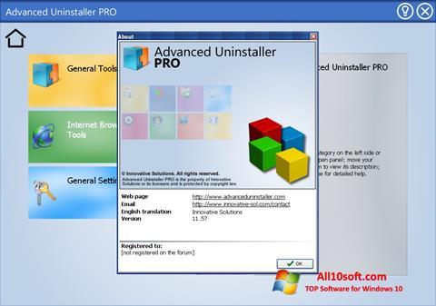 Screenshot Advanced Uninstaller PRO for Windows 10