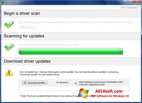 Screenshot Device Doctor for Windows 10