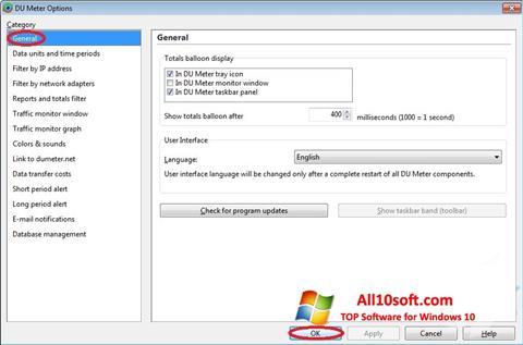 Screenshot DU Meter for Windows 10