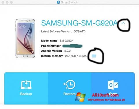 Screenshot Samsung Smart Switch for Windows 10