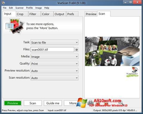 Screenshot VueScan for Windows 10