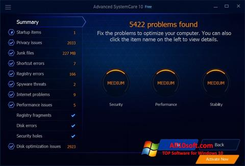 Screenshot Advanced SystemCare Free for Windows 10
