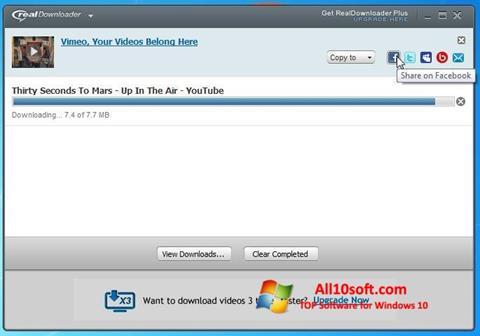Screenshot RealDownloader for Windows 10