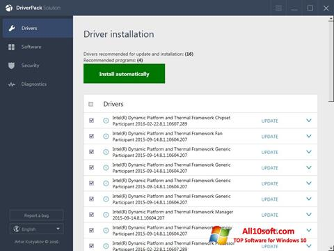 Screenshot DriverPack Solution Online for Windows 10